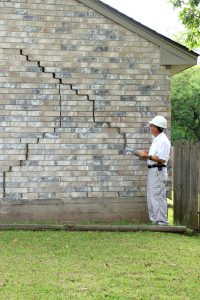 Home inspector found serious foundation damage on house for sale.