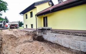 Digging Up House Foundation - Basement